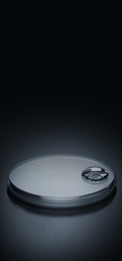 Watchmaking oyster-case cyclops lens