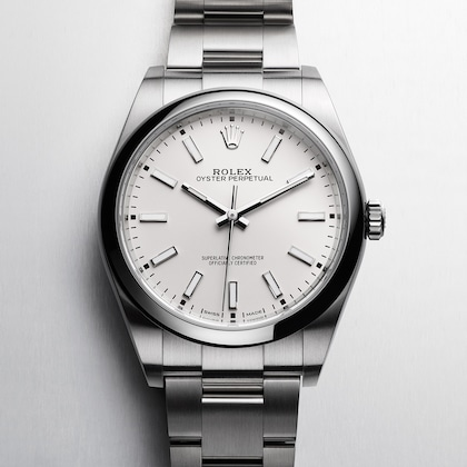 Oyster Perpetual white dial