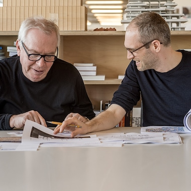 Sir David Chipperfield and his Swiss protégé Simon Kretz